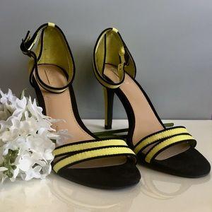 Trafaluc Mint Green Peep Toe Ankle Strap Heels